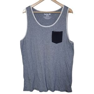3 for $20 Hurley | striped front pocket tank